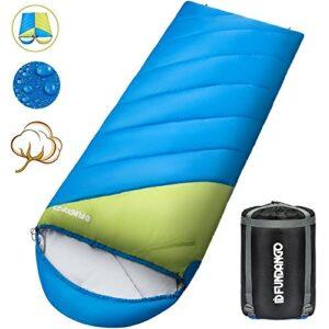 Fundango-Sleeping-Bag-Lightweight-XL-for-CampingBackpackingTravel-with-Compression-Sack-Warm-Sleeping-Bag-Portable-Comfort-3-4-Season-0