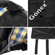 Gonex-3-Season-Cotton-Sleeping-Bag-Envelope-Waterproof-Comfort-with-Compression-Bag-Comfort-Temperature-Range-40-to-60F-Fits-Adults-up-to-66-0-2