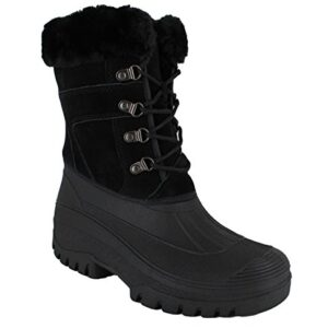 GroundWork-LS005-Womens-Mukker-Stable-Yard-Winter-Snow-Lace-Up-Boots-0