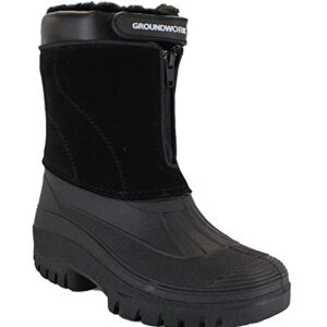 GroundWork-LS88-Mens-Mucker-Stable-Yard-Waterproof-Winter-Snow-Zip-Boots-Wellies-0