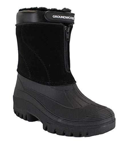 GroundWork-LS88-Mens-Mucker-Stable-Yard-Waterproof-Winter-Snow-Zip-Boots-Wellies-0