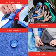 KeenFlex-Mummy-Sleeping-Bag-3-4-Season-Extra-Warm-Lightweight-Compact-Waterproof-Advanced-Heat-Control-System--Ideal-for-Camping-Backpacking-Hiking-Festivals--Compression-Bag-Included-0-1