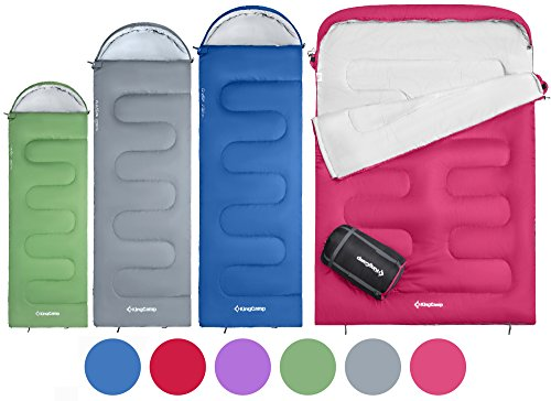 KingCamp-Oasis-3-Season-Sleeping-Bag-4-Available-Sizes-Child-Adult-Extra-Large-Extra-Large-Double-in-6-Colours-for-Camping-Outdoors-0