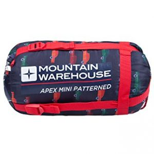 Mountain-Warehouse-Apex-Mini-Patterned-Kids-Sleeping-Bag-Mummy-Shaped-Lightweight-Compact-Great-for-Sleepovers-or-Camping-0