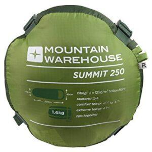 Mountain-Warehouse-Sleeping-Bag-Summit-Walking-Camping-Lightweight-Compact-Season-Festival-0