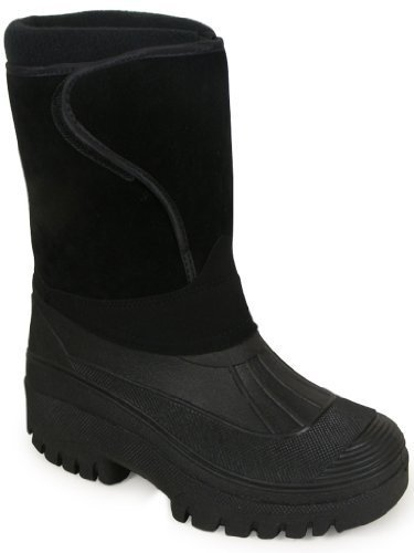 New-Black-Unisex-Mens-Ladies-Horse-Riding-Yard-Waterproof-Stable-Walking-Rain-Snow-Winter-Ski-Wellies-Wellington-Wellys-Warm-Farm-Mucker-Boots-All-Sizes-UK-4-11-0