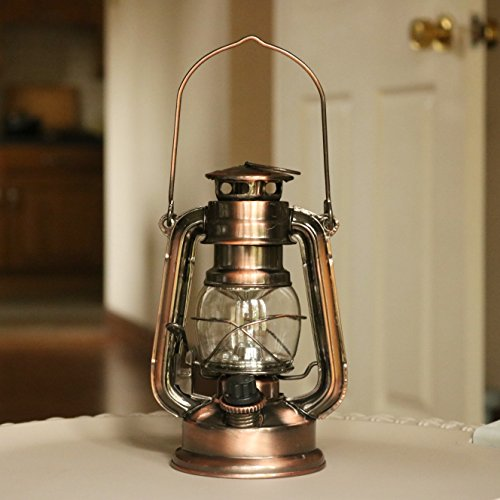 Pk Green Led Hurricane Lamp Vintage Storm Lantern Light