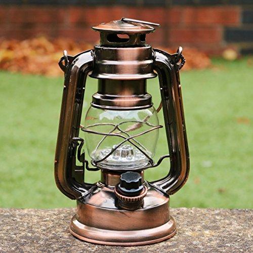 Pk Green Led Hurricane Lamp Vintage Storm Lantern Light
