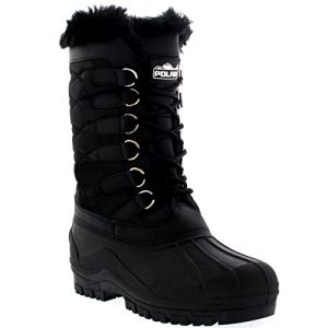 POLAR-Womens-Nylon-Waterproof-Weather-Outdoor-Snow-Duck-Winter-Rain-Cuff-Lace-Boot-0