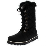 Polar-Boot-Womens-Quilted-Nylon-Faux-Fur-Lined-Tall-Waterproof-Rain-Snow-Boot-0