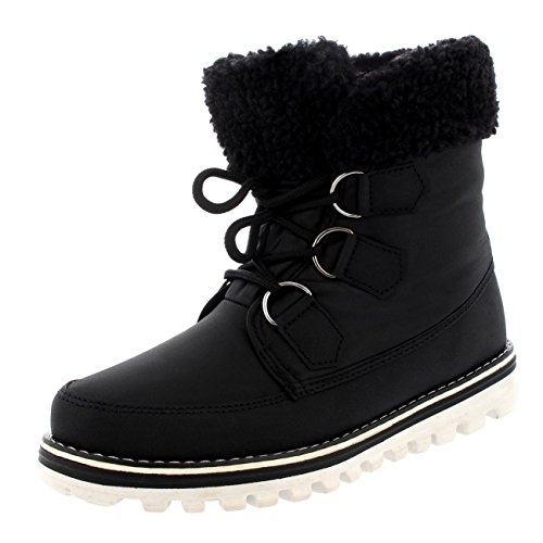 Polar-Boot-Womens-Quilted-Short-Snow-Winter-Faux-Fur-Warm-Durable-Waterproof-Side-Zip-Snow-Boots-0