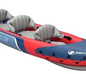 Sevylor-Tahiti-Plus-21-Man-Canadian-Canoe-Inflatable-Sea-Kayak-361-x-90-cm-0