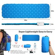 Ultralight-Inflating-MattressCAMTOA-Inflating-MatInflatable-Pad-MattressInflating-Sleeping-PadAir-BedInflatable-LoungerCamping-Sleeping-MatAir-Mattress-CompactWaterproofMoistureproofComfortable-for-Hi-0-0