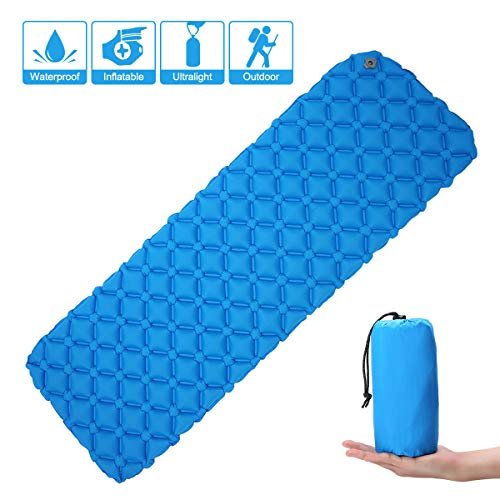 Ultralight-Inflating-MattressCAMTOA-Inflating-MatInflatable-Pad-MattressInflating-Sleeping-PadAir-BedInflatable-LoungerCamping-Sleeping-MatAir-Mattress-CompactWaterproofMoistureproofComfortable-for-Hi-0