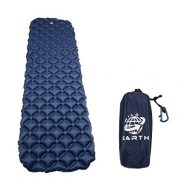 Wild-Earth-Navy-Blue-Lightweight-Single-Inflatable-Camping-Roll-Mat-Sleeping-Pad-Bed-or-Travel-Mattress-Adult-Size-with-Air-Support-for-a-Great-Nights-Sleep-Compact-Strong-and-Easy-to-Inflate-For-Hiki-0