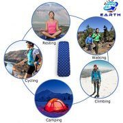 Wild-Earth-Navy-Blue-Lightweight-Single-Inflatable-Camping-Roll-Mat-Sleeping-Pad-Bed-or-Travel-Mattress-Adult-Size-with-Air-Support-for-a-Great-Nights-Sleep-Compact-Strong-and-Easy-to-Inflate-For-Hiki-0-2