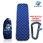 Wild-Earth-Navy-Blue-Lightweight-Single-Inflatable-Camping-Roll-Mat-Sleeping-Pad-Bed-or-Travel-Mattress-Adult-Size-with-Air-Support-for-a-Great-Nights-Sleep-Compact-Strong-and-Easy-to-Inflate-For-Hiki-0-3