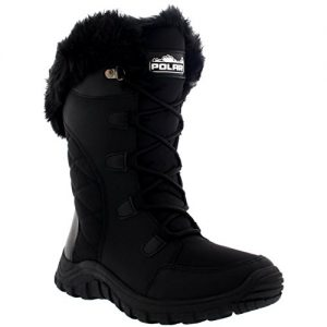 Womens-Quilted-Lace-Up-Waterproof-Black-Outdoor-Cuff-Snow-Rain-Duck-Boot-0