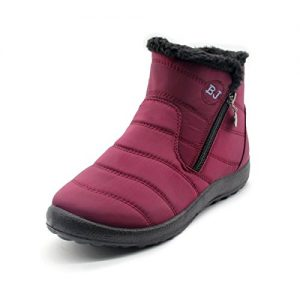 gracosy-Womens-Waterproof-Snow-Boots-Fur-Lined-Winter-Warm-Ankle-Boots-Comfy-Flats-Slip-On-Ankle-Booties-Side-Zipper-Casual-Boots-Shoes-Fashion-High-Top-Outdoor-Walking-Non-Slip-Sport-Shoes-Size-Black-0